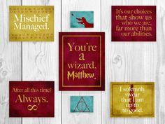 Harry+Potter+Nursery+Series+Harry+Potter+Art+by+SmartyPantsStudio,+$98.00