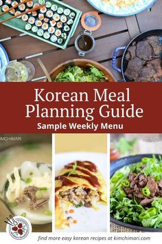 Weekly meal plans 699535754610886099 - Korean Meal Planning Guide including sample weekly menu, recipes and you can even generate your own shopping list! With my tips, you can make big batch recipes to make yummy meals with minimal effort. Meal Prep Plans, Kids Meal Plan, Easy Meal Prep, Food Prep, Easy Korean Recipes, Whole 30 Recipes, Asian Recipes, Yummy Recipes, Kitchens