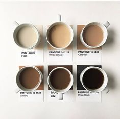 How do you color your coffee? Pantone colors showing the shades of coffee! Brown Aesthetic, Aesthetic Coffee, Cream Aesthetic, Minimalist House Design, Minimalist Interior, Minimalist Bedroom, Coffee Colour, Mocca, Pantone Color