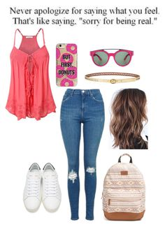 """""""MJ; But First, Donuts."""" by jaycrew-a ❤ liked on Polyvore featuring Agent 18, Topshop, Lauren Ralph Lauren, Rip Curl, Givenchy and Yves Saint Laurent"""