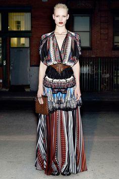 Givenchy's boho-inspired maxi dress. ~ trish #boho #bohemian #clothes #fashion