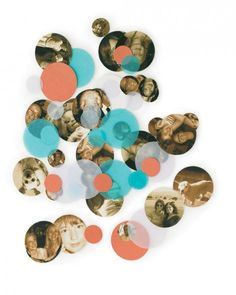 Circle of Friends Confetti~ (Photo confetti) This is a great idea to put inside a holiday or birthday card!