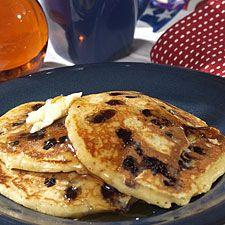 blueberry pancakes - King Arthur Flour recipes are always delicious :)