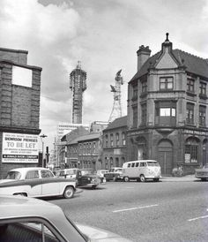 BT Tower, Birmingham under construction, 25 May 1965 Old Pictures, Old Photos, Old Bangers, Birmingham City Centre, Sutton Coldfield, Birmingham England, Walsall, 2nd City, Yesterday And Today