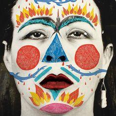 Sun Art, Deadpool, Carnival, Halloween Face Makeup, Painting, Posts, People, Art Museum, Illustration Art