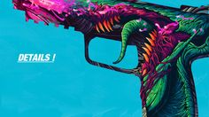"""New """"Hyper Beast"""" themed skin. As you can see the artwork is different from the other 2 skins. Hyper Beast, Super Deal, Cs Go, Cool Wallpaper, Best Games, Art Sketches, Comic Art, Weird, Workshop"""