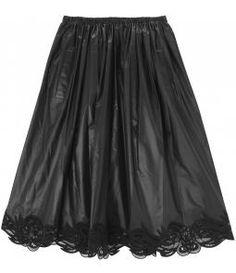 a4e00b01b5e Black macramé and shell midi skirt Holy Chic
