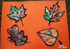 Black Glue and Salt Leaf Painting