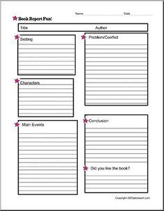 Simple non-fiction book report form