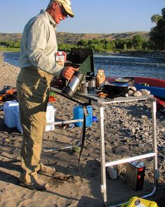 Did you know our cooler outrigger converts to a camping table? We want to hear your thoughts! #camping #wingmanoutfitter #rivercamping #canoe #canoeing #montana #yellowstoneriver #campingtable