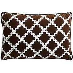 Velvet Ric Rac Pillow