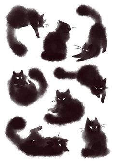 17 ideas tattoo cat cute kittens tattoo details about sneaky black cat art print watercolor painting Cute Kittens, Cats And Kittens, Fluffy Kittens, Tabby Cats, Siamese Cats, Big Cats, Watercolor Cat, Watercolor Animals, Tattoo Watercolor