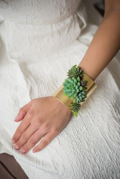 Wearable foilage from passionflowermade out of Michigan. so lovely and an amazing idea.  Cuff bracelet, statement bracelet, corsage, brass jewelry, floral jewelry, accessories, bracelet