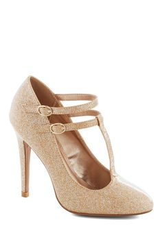 Glitter Miss Sunshine Heel, #ModCloth. (I can't wear heels this high these days, but ahhhh)