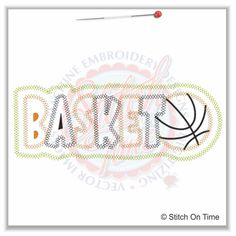 27 Basketball : Basketball Applique 6x10