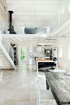 Duplex, modern, white