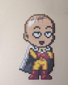 Perler: One Punch Man by AmayaMarieSuta on DeviantArt Fuse Beads, Perler Beads, Anime Store, Alpha Patterns, Perler Bead Art, Anime Merchandise, Perler Patterns, Baby Shark, One Punch Man