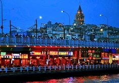 Galata Tower and Drawbridge by Sadettin Uysal, Istanbul, Turkey.