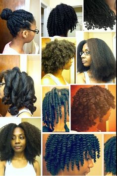 The versatility of natural hair #curlyhairrocks #naturalhair #curlyhair #blackhair #bhi