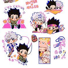 Anime: Hunter x Hunter Hunter X Hunter, Hunter Anime, Manga Anime, Anime Guys, Manga Art, Gon Killua, Chibi Cat, Japanese Cartoon, Anime Stickers