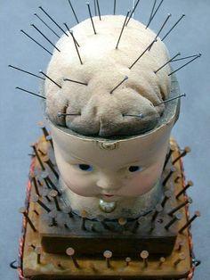 Doll head pincushion!!  @Trish Papadakos - DAiSYS & dots Louise  @Natalie Jost Jost Jost Jost Lopez