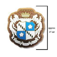 Zeta Tau Alpha Sorority Large Wooden Crest #Greek #Sorority #Clothing #ZTA #ZetaTauAlpha #Zeta