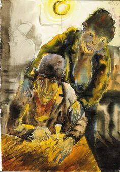 Otto Dix, Penne (Flophouse), 1923 ~Via Angelique Krosse