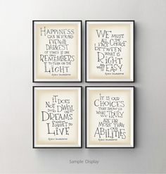 Harry Potter print Dumbledore quote Happiness can by SimpleSerene