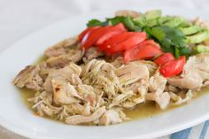 EASY SLOW COOKER CHICKEN VERDE