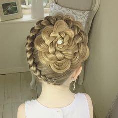 Dutch braid from bottom up into twisted bun