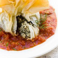 Mmm, #vegan Cashew Cheese Spanakopita are pockets of creamy, savory goodness.