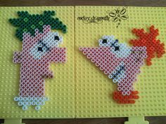 Phineas and Ferb perler beads by ~RockerDragonfly on deviantART