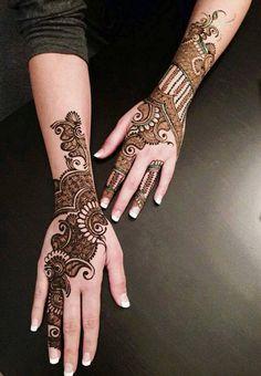 Top hand and leg Mehndi design