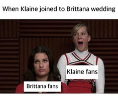 Tv Memes, Glee Memes, Glee Quotes, Best Memes, Brittany And Santana, Blaine And Kurt, Mike Chang, Drama Tv Series, Cute Lesbian Couples