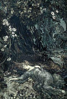 'A midsummer night's dream' by  Arthur Rackham. 1908