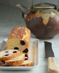 Blueberry-Cornmeal Loaf Cake loaded with yogurt and lemon!