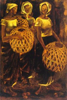 Modernist painter Anita Magsaysay-Ho passes away at 97 Filipino Art, Filipino Culture, Yellow Artwork, Philippine Art, Brown Image, Artists Like, Brown Art, Vintage Artwork, Gustav Klimt