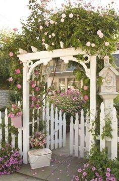 Garden Pavers, Garden Arbor, Garden Trellis, Garden Nook, Arbors Trellis, Rose Trellis, Cottage Front Yard, Rose Arbor, Victorian Gardens