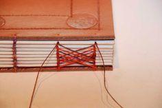 Artes Manuais com Kika Florence: Tutorial costura Celta e Copta - coptic stitch with Celtic weave bookbinding tutorial