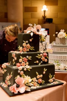 Sylvia Weinstock cake  | photography by Style Art Life | see more on http://burnettsboards.com/2014/02/event-report-martha-stewarts-wedding-party/... Personalized Cake Serving Sets http://thevineyard.carlsoncraft.com