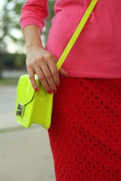 Red, pink, neon= Spring! #springbeauty