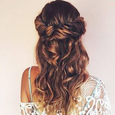 Headband twist ombre hair