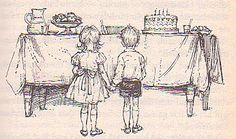 My Naughty Little Sister and Bad Harry at the birthday party, by Shirley Hughes. One of my favourite stories. Cos I wanted the trifle to be honest. Sisters Book, Little Sisters, Shirley Hughes, Pre-school Books, Art Wall Kids, Wall Art, Children's Literature, Children's Book Illustration, My Childhood