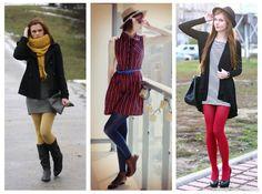 Meia-calça colorida