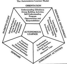 The autonomous learner model can be used for a school-wide approach to designing learning experiences. In order to be a member of the workforce in 2024, current elementary school students need develop risk-taking skills and the ability to learn as they work. The Autonomous Learner Model provides a framework around which we can help young people develop these necessary skills.