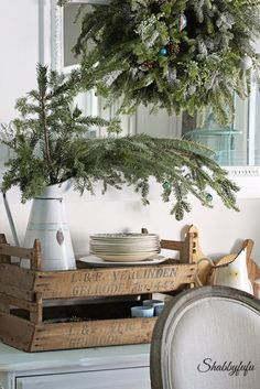 Crates are a stylish way to add rustic charm to your vignettes and great for storag!