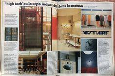 En 1979, le style industriel débarque dans la maison. On réutilise et on réhabilite les matériaux crées pour des besoins industriels.