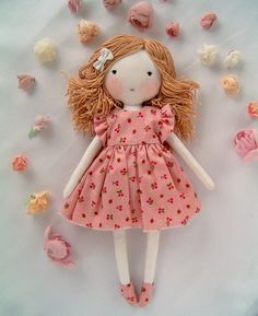 This item is unavailable Personalized Rag dolls, dolls, dolls for girls, personalized baby gifts, ra Handmade Dolls Patterns, Doll Patterns Free, Doll Clothes Patterns, Handmade Rag Dolls, Sewing Patterns, Handmade Baby, Diy Rag Dolls, Sewing Dolls, Diy Doll