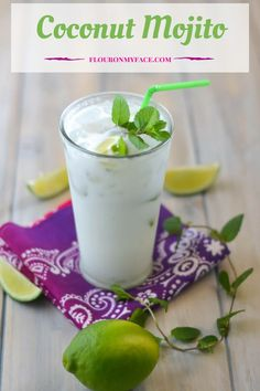 Sip on this sweet Coconut Mojito and enjoy a taste of the tropics. This Bahama Breeze Copycat Coconut Mojito recipe hits the spot.