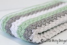 Crochet baby blanket pattern unisex boy or girl stroller blanket pattern baby shawl pram afghan baby throw mint grey white #crochet_patterns_lmd